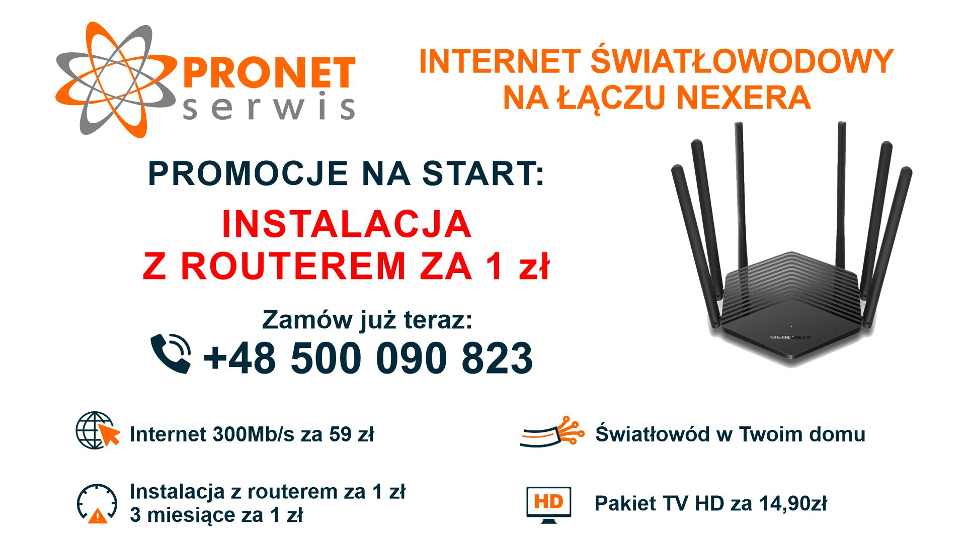 Instalacja z routerem za 1 zł!